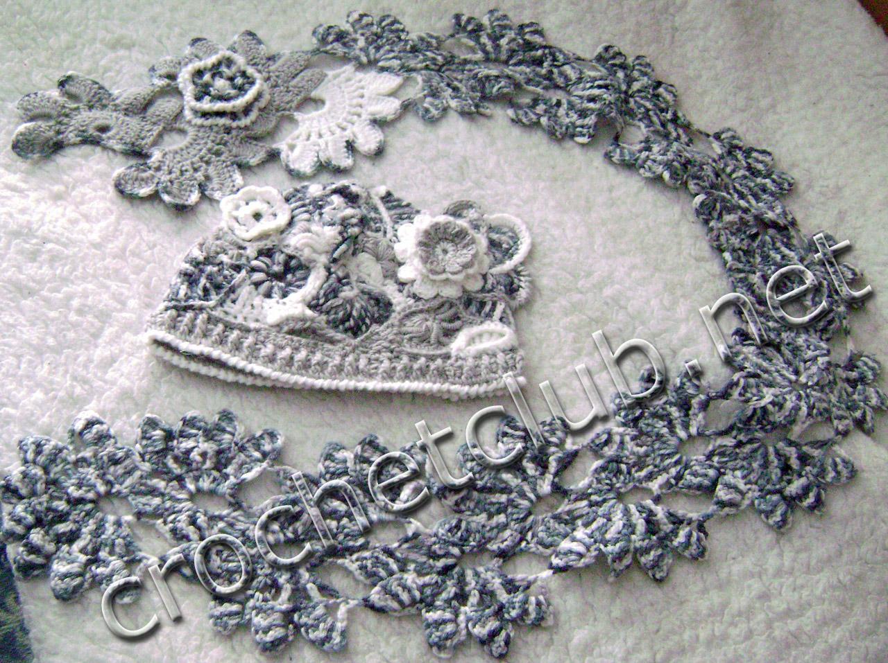 комплект серый жемчуг вязание крючком блог настика