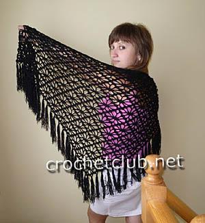 шаль черного цвета 1