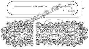 схемы белого шарфика