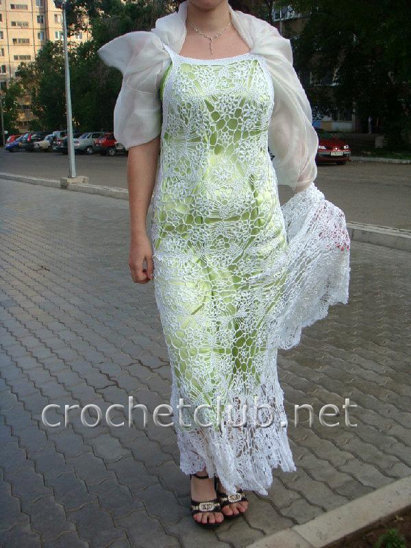 Платья крючком » Вязание