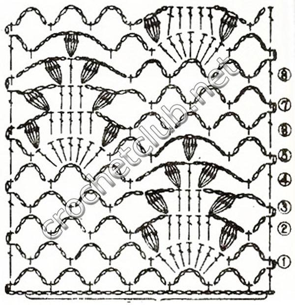 арки из воздушных петель и