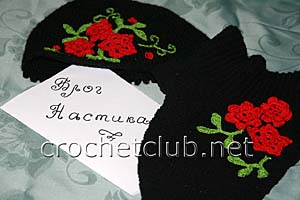 комплект из шапочки и манишки 1