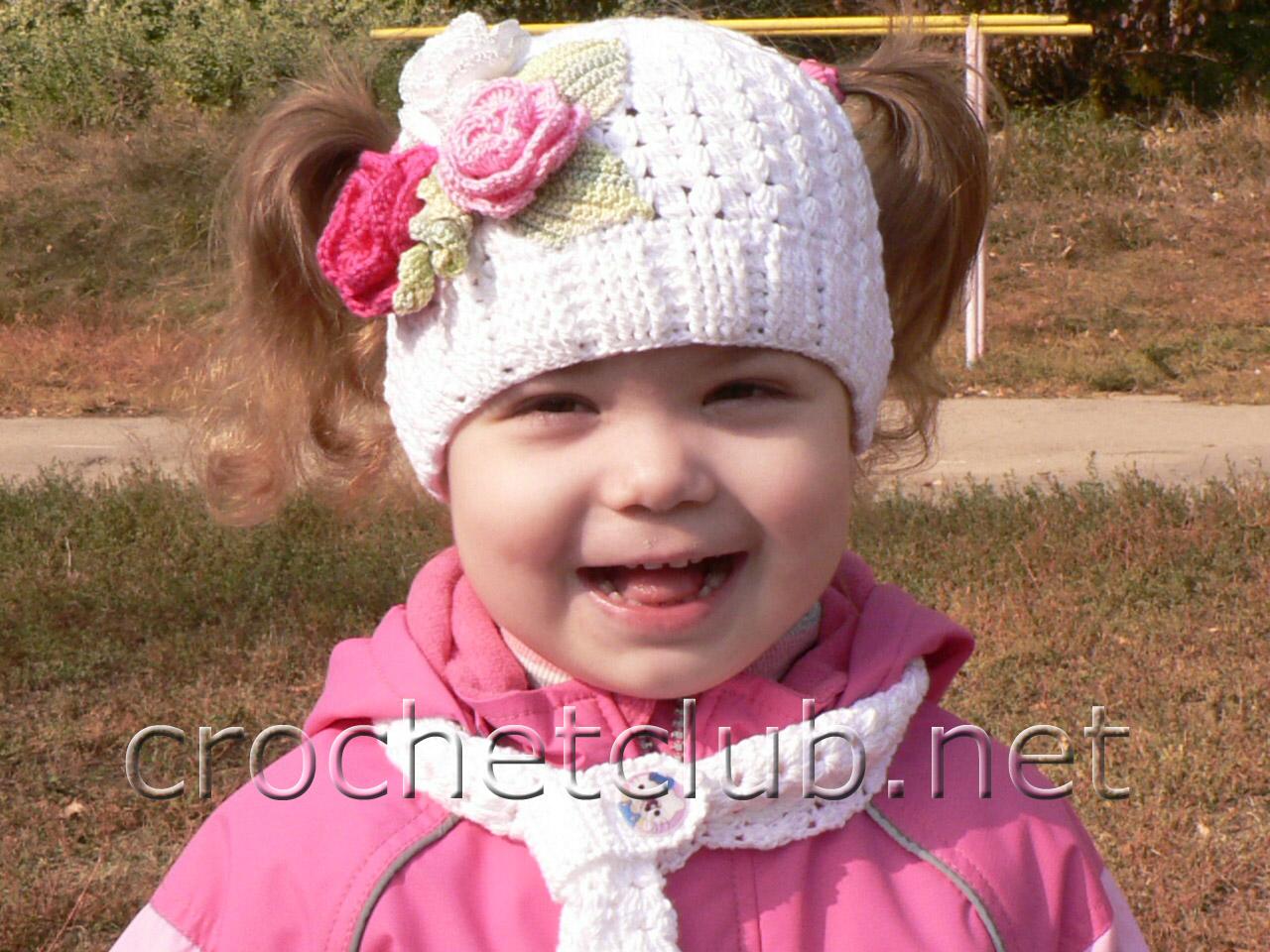 Детские шапки крючком красивые фото