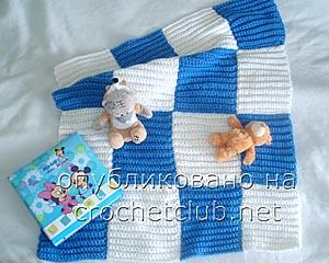коврик для малыша крючком