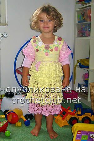 платье цветочки и ажуры