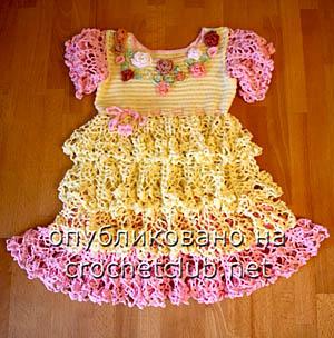 платье цветочки и ажуры 1