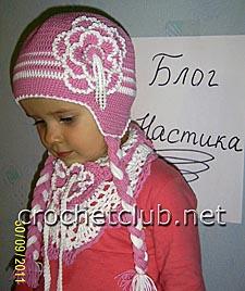 шапочка и бактус для девочки 1