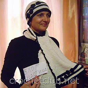 шапочка и шарфик кокетка