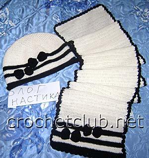 шапочка и шарфик кокетка 1