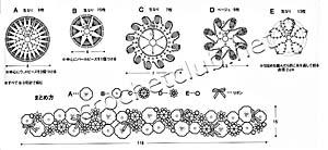 схема цветочного шарфика