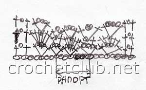 схема узора шарфика