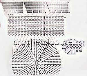 схема вязания шляпы