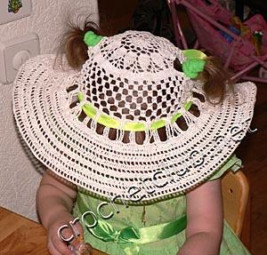 детская летняя шляпка 1