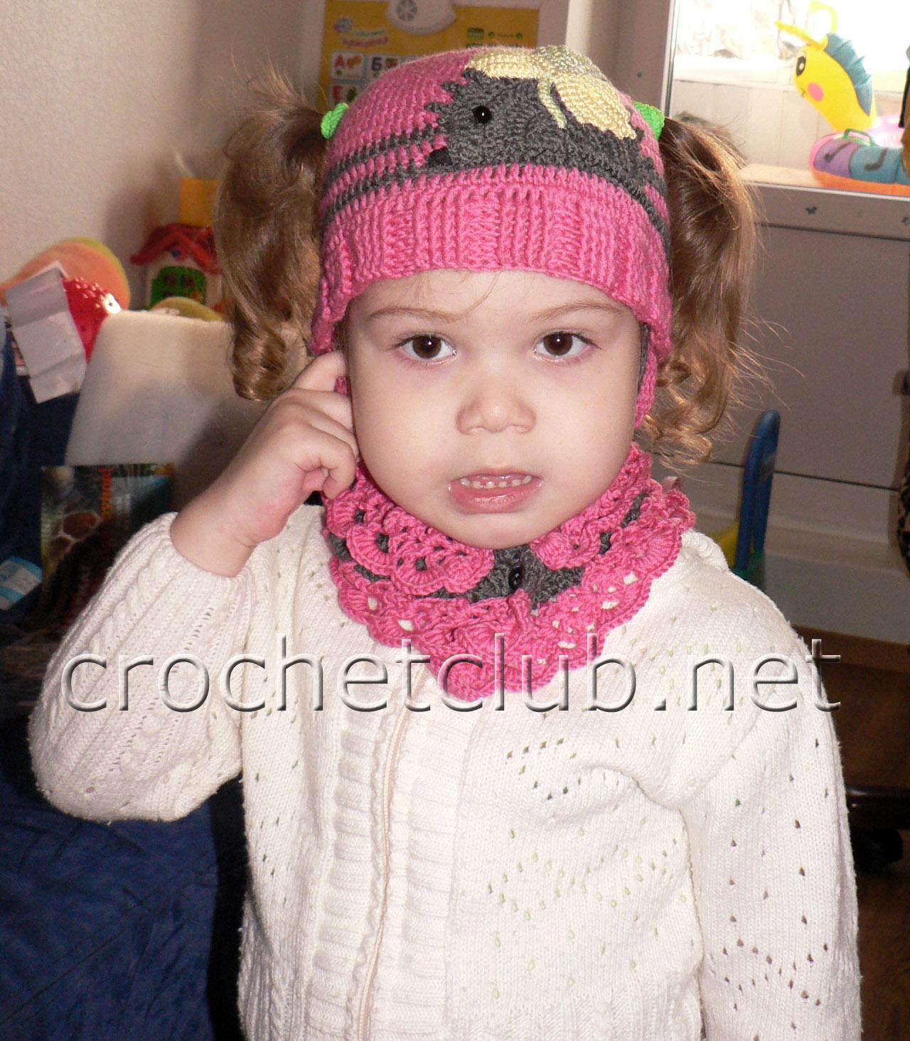 Вязание детской шапочки с ушек 121