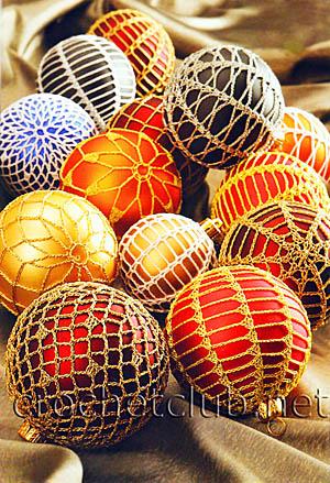 елочные шары крючком