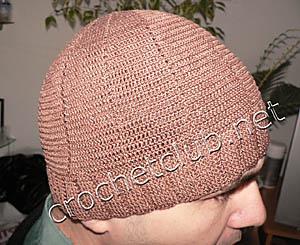 легкая мужская шапочка из хлопка