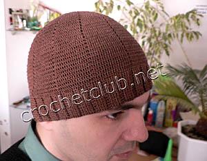 легкая мужская шапочка из хлопка 1