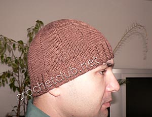 легкая мужская шапочка из хлопка 2