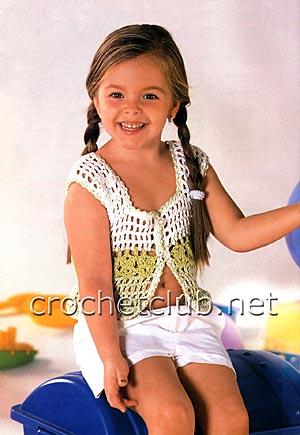 маечка на пуговицах для девочки 4 лет