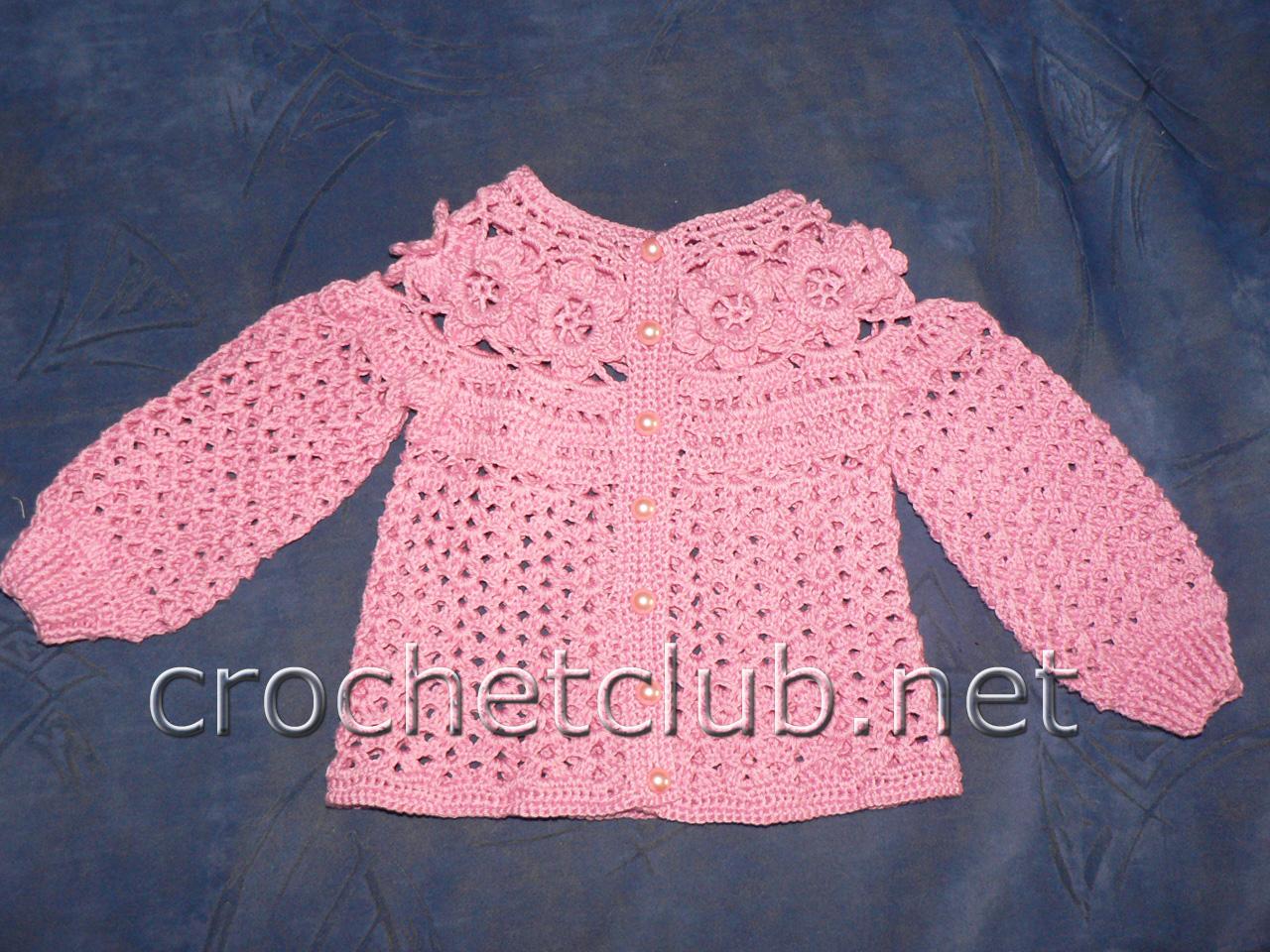 Вязание для девочки кофточка