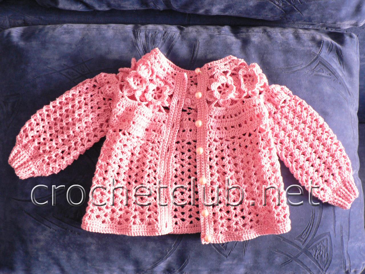 Вязание кофточка для малышки 602