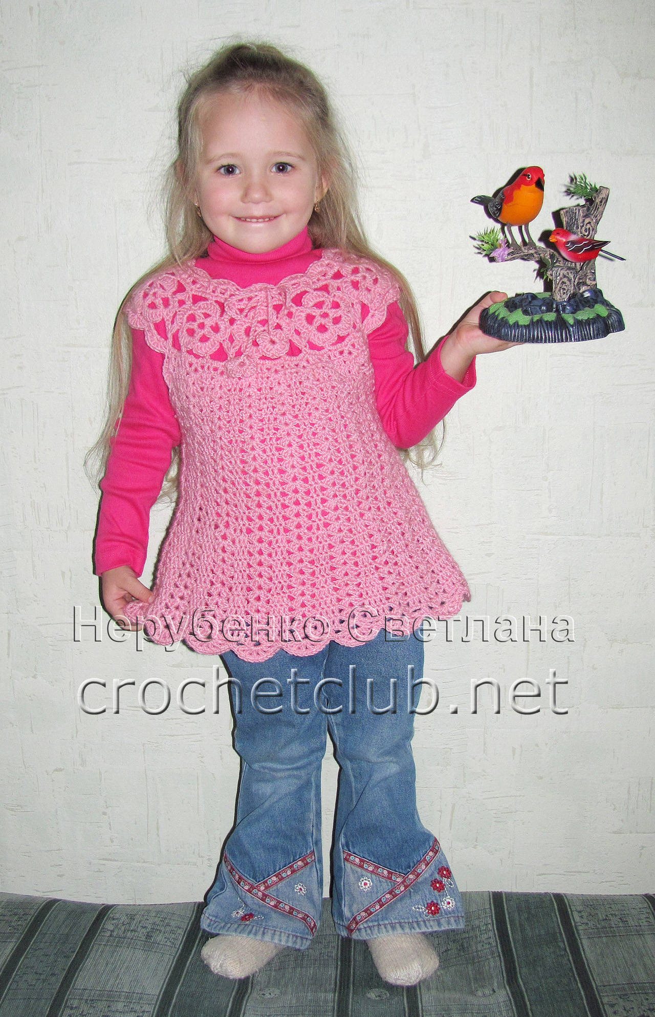 Туника на детей вязание