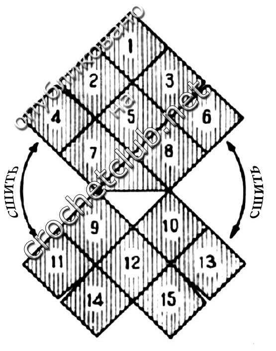 Треугольник вяжите в одном