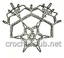 снежинка крючком-схема 1