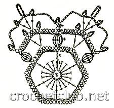 снежинка крючком-схема 2