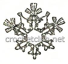снежинка крючком-схема 3