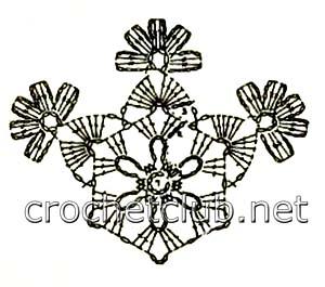 снежинка крючком-схема 4