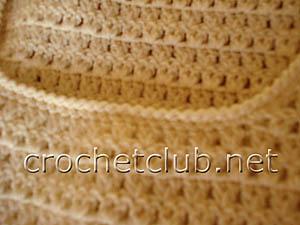 вязаное платье с отделкой в перуанской технике 5