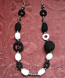 10 вязаное ожерелье