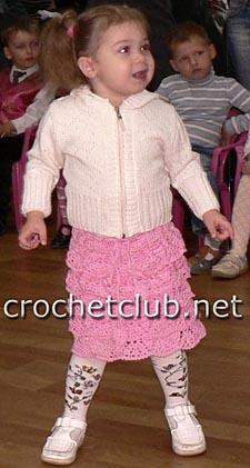 детская каскадная юбочка