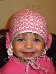 двойная шапочка и шарфик крючком 1