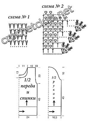схемы и выкройка джемпера