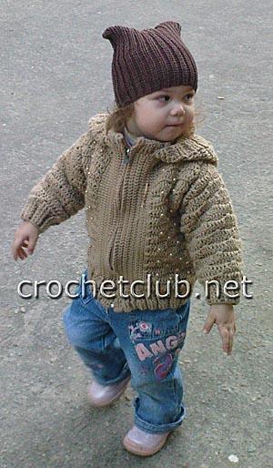 шерстяная детская курточка