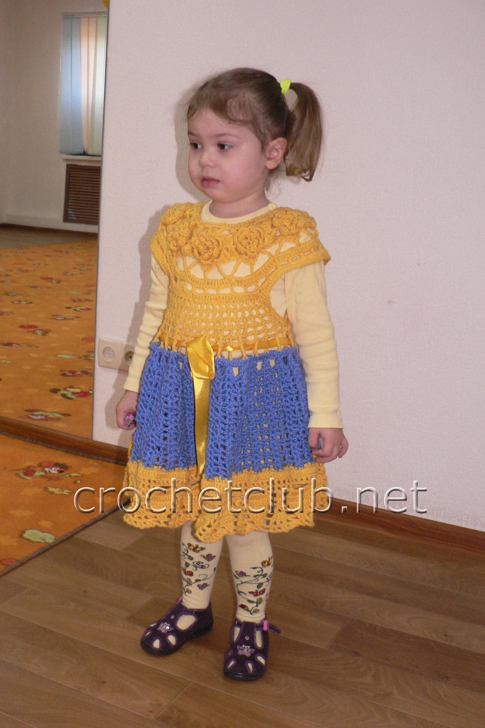 схема вязания тёплого платья