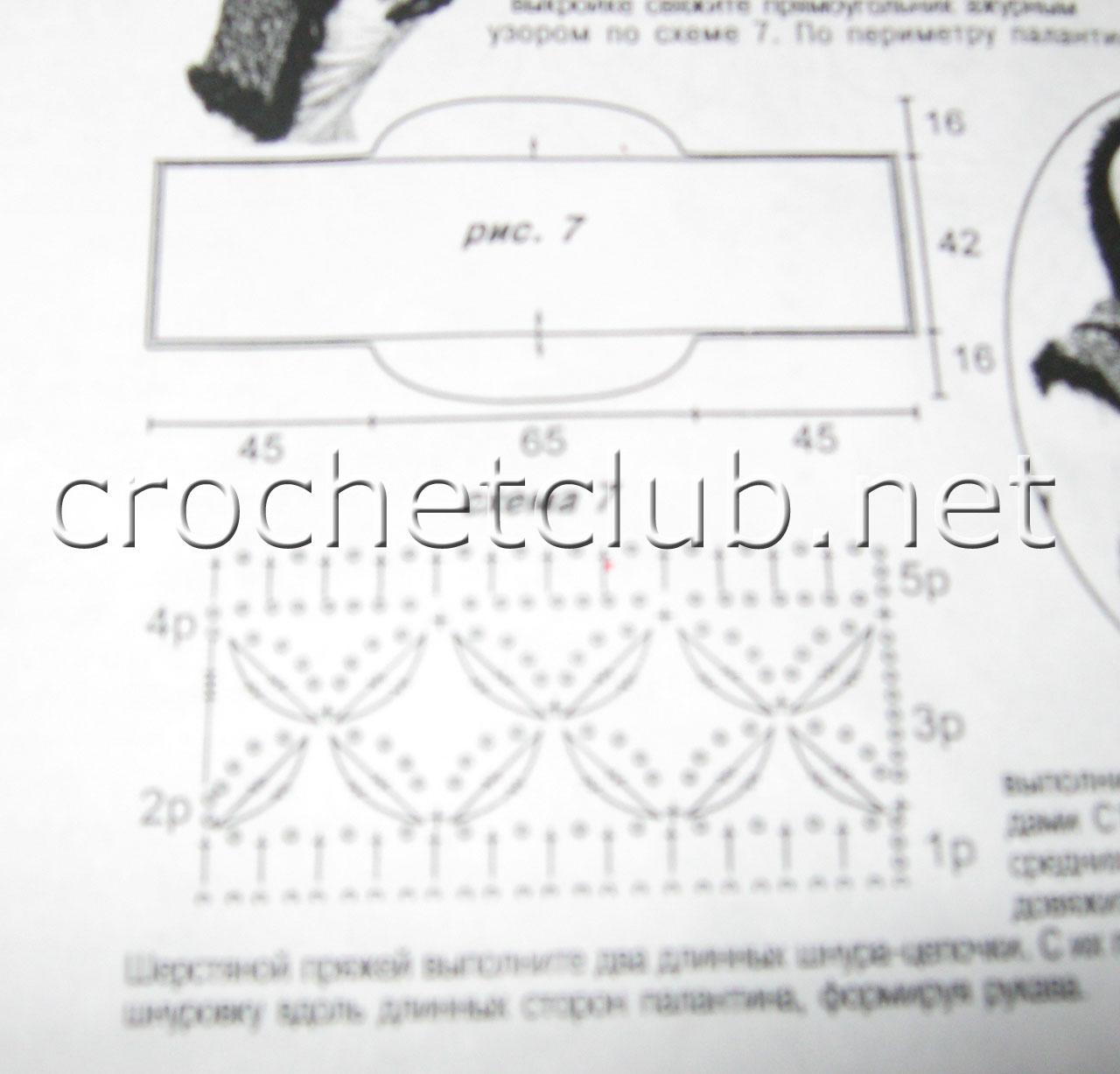 Накидка из травки вязания