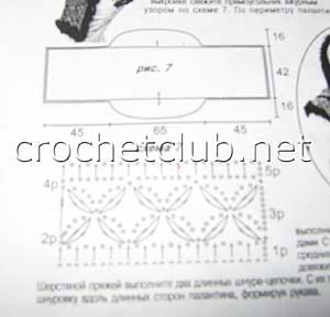 вязаная накидка-трансформер-схема