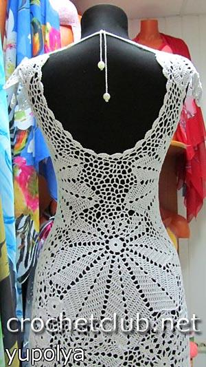 белое платье крючком 1