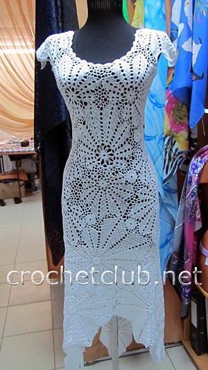 белое платье крючком 2