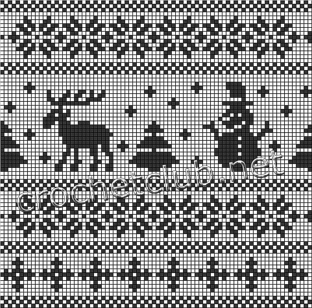 Схема оленя для вязания фото 200