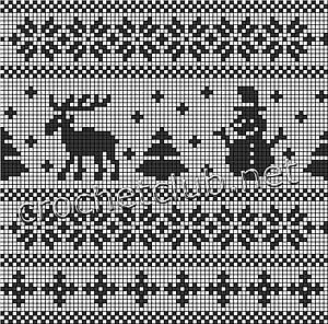жаккардовая сумка снеговик-схема