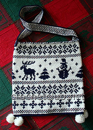 жаккардовая сумка снеговик 1