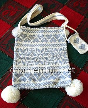 жаккардовая сумочка зима