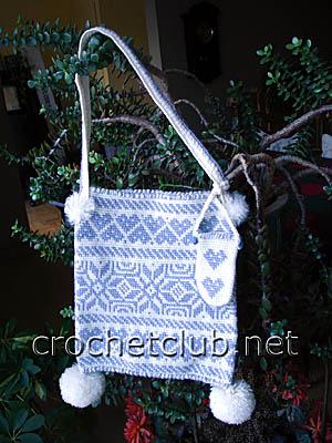 жаккардовая сумочка зима 1