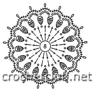 кардиган в технике ирландского кружева-схема 12