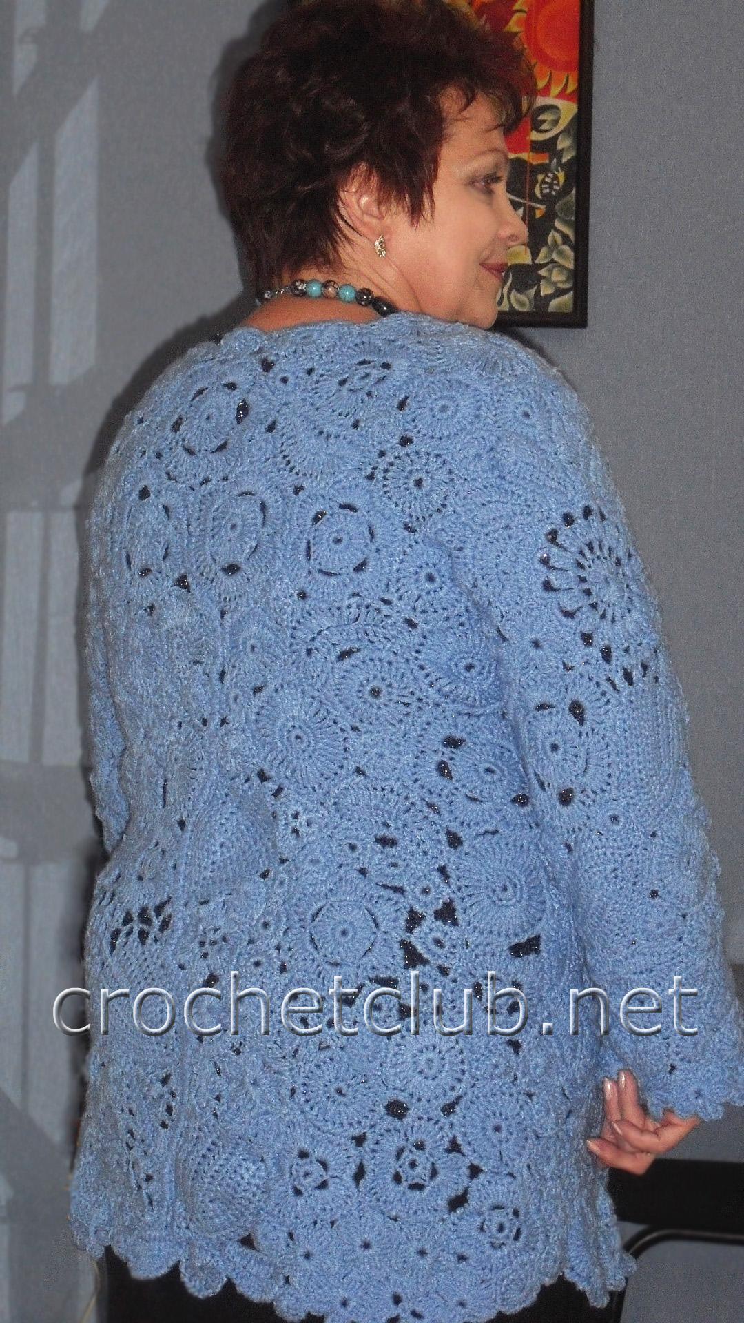 Вязание ирландского кружева жакеты