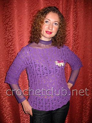 пуловер фиолетовое облачко
